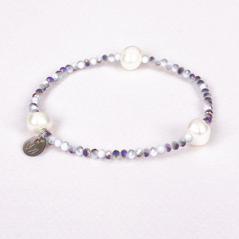 Grey Luna Crystal Bracelet