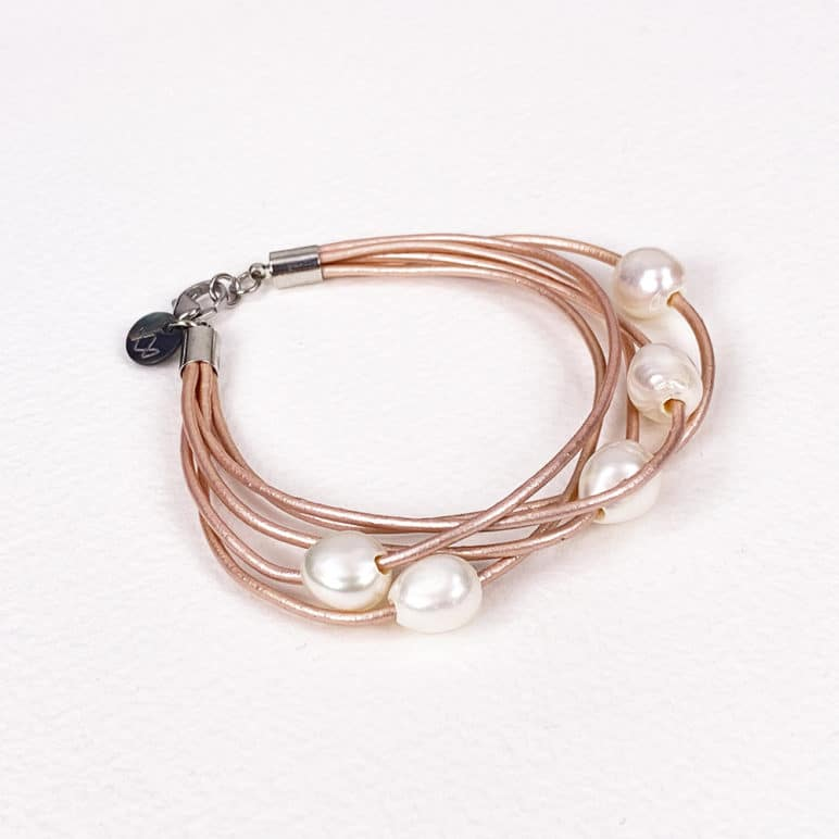 Pink Calima Multi-Pearl Bracelet