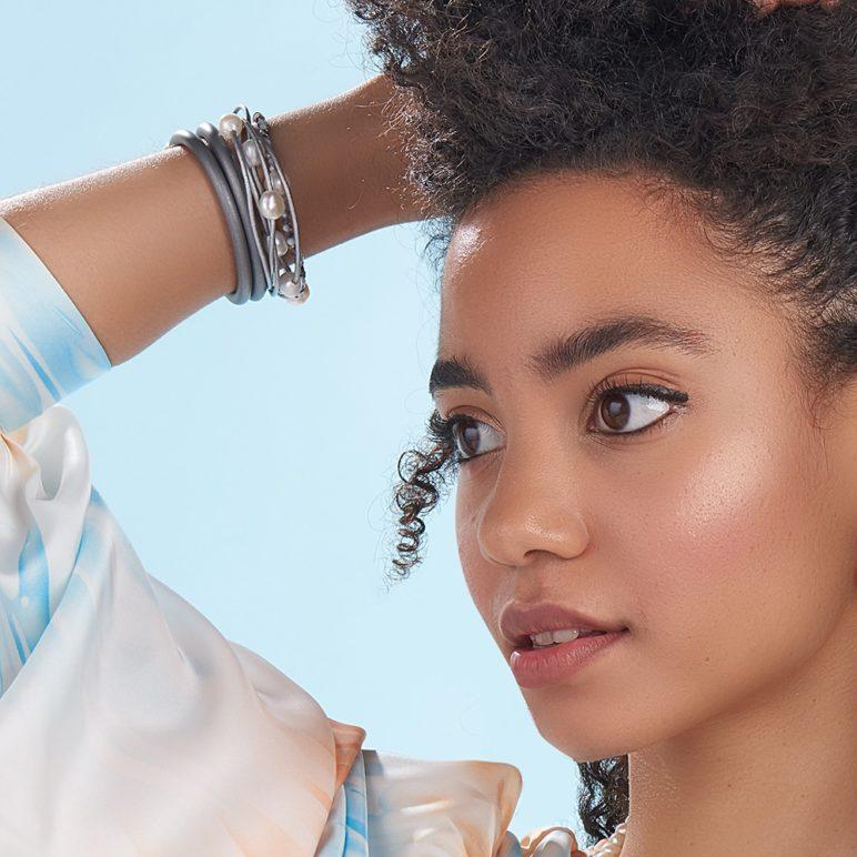 Grey Calima Multi-Pearl Bracelet