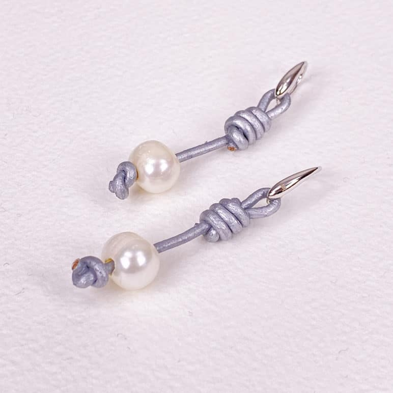 Grey Calima Pearl Earrings