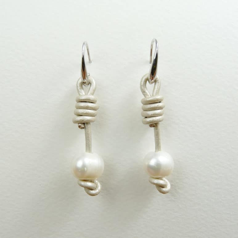 White Calima Pearl Earrings