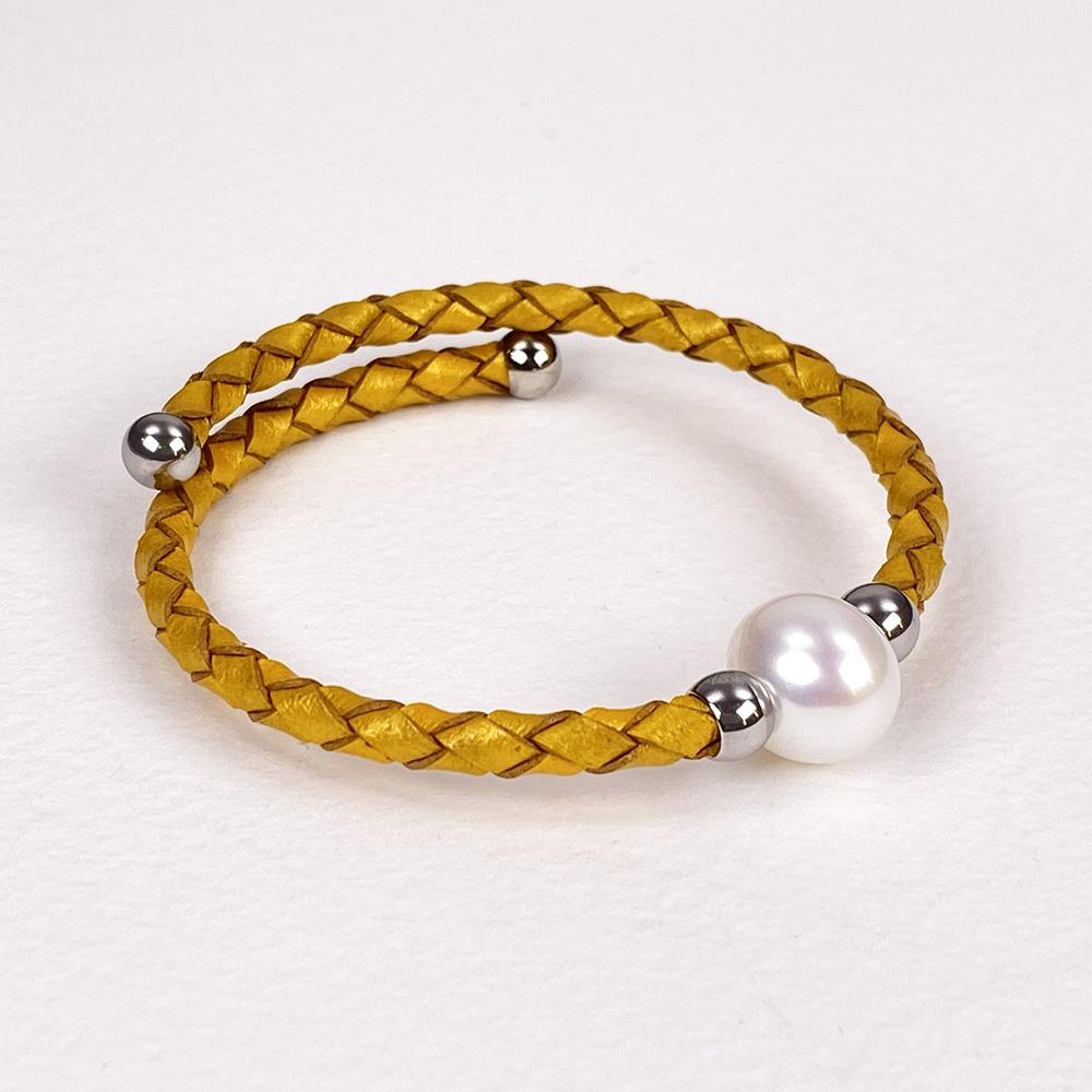 Yellow Bahia Pearl Bracelet