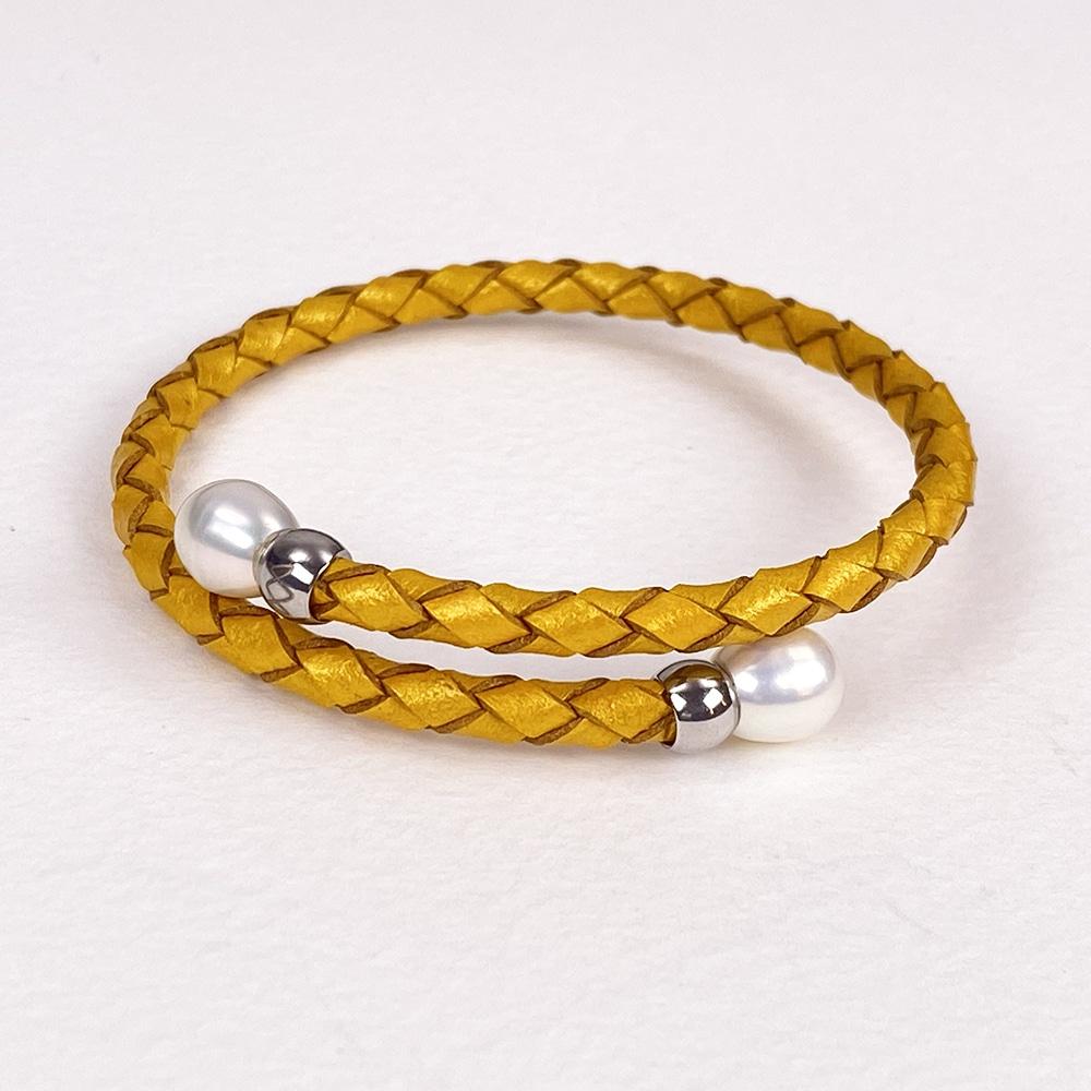 Mustard Rita Pearl Bracelet