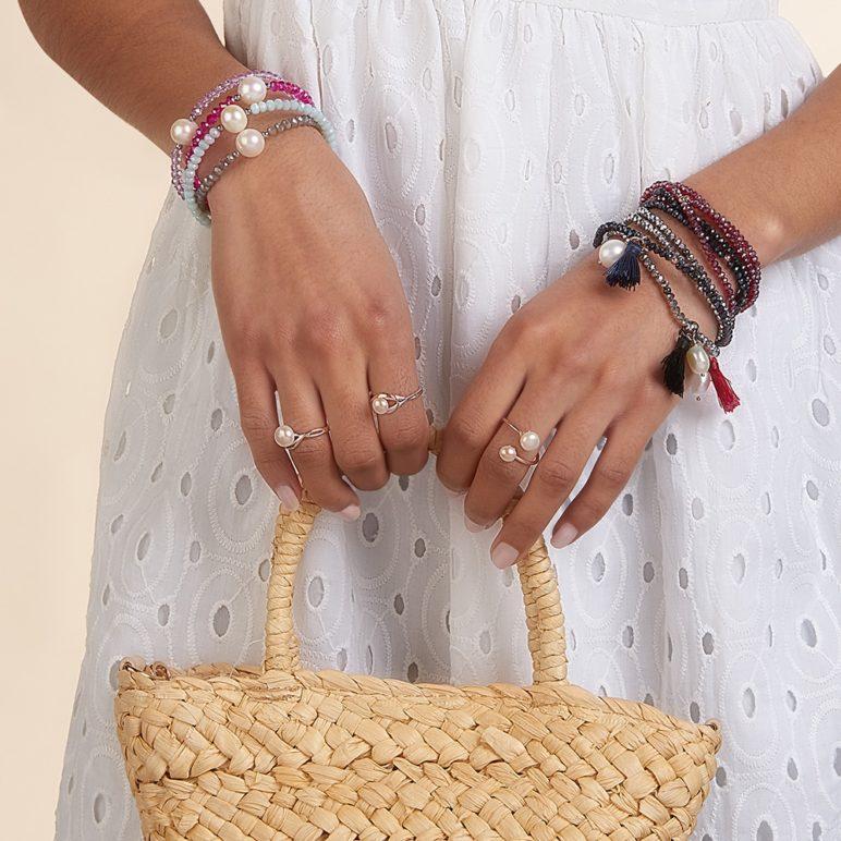 Lilac Bahia Crystal Bracelet