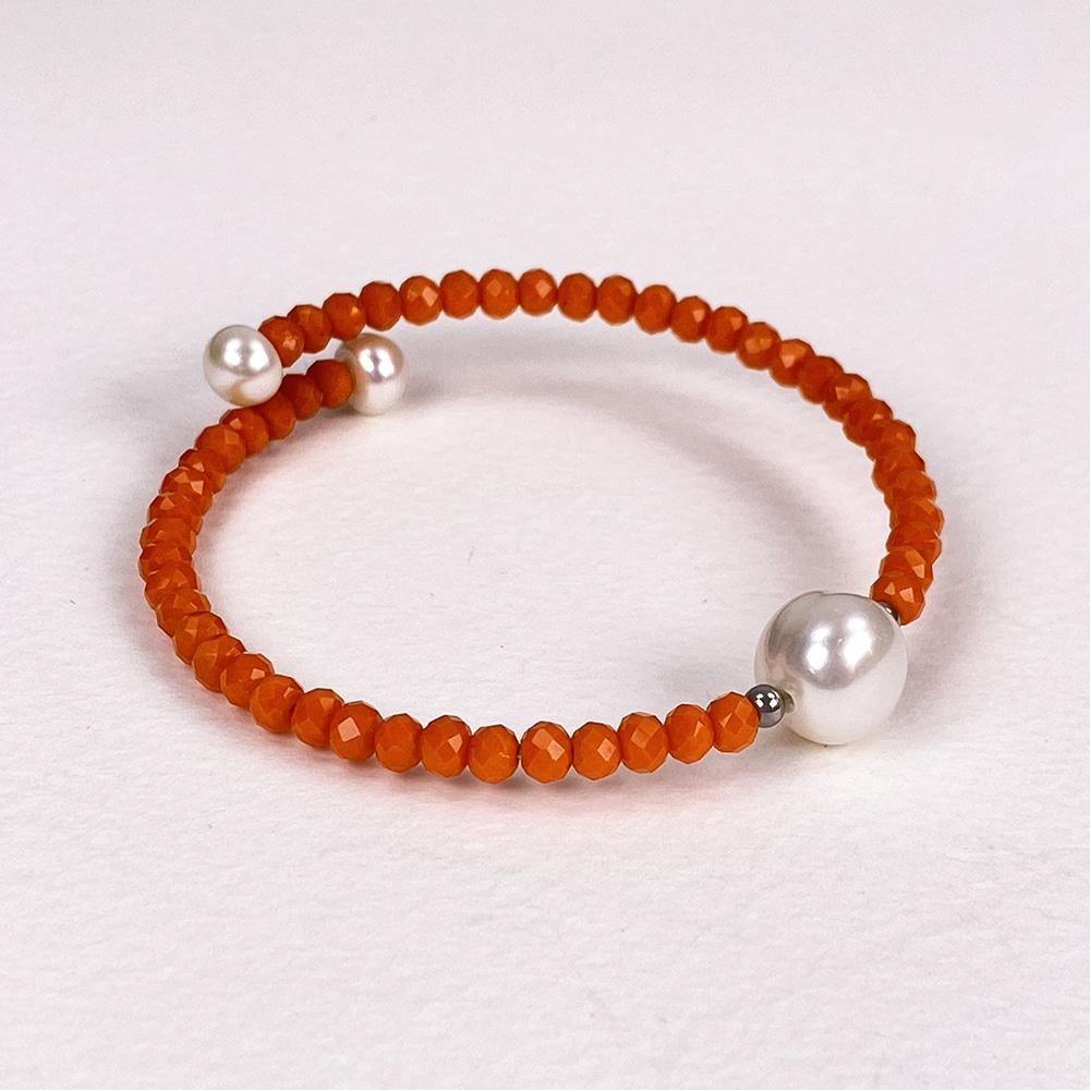 Orange Bahia Crystal Bracelet
