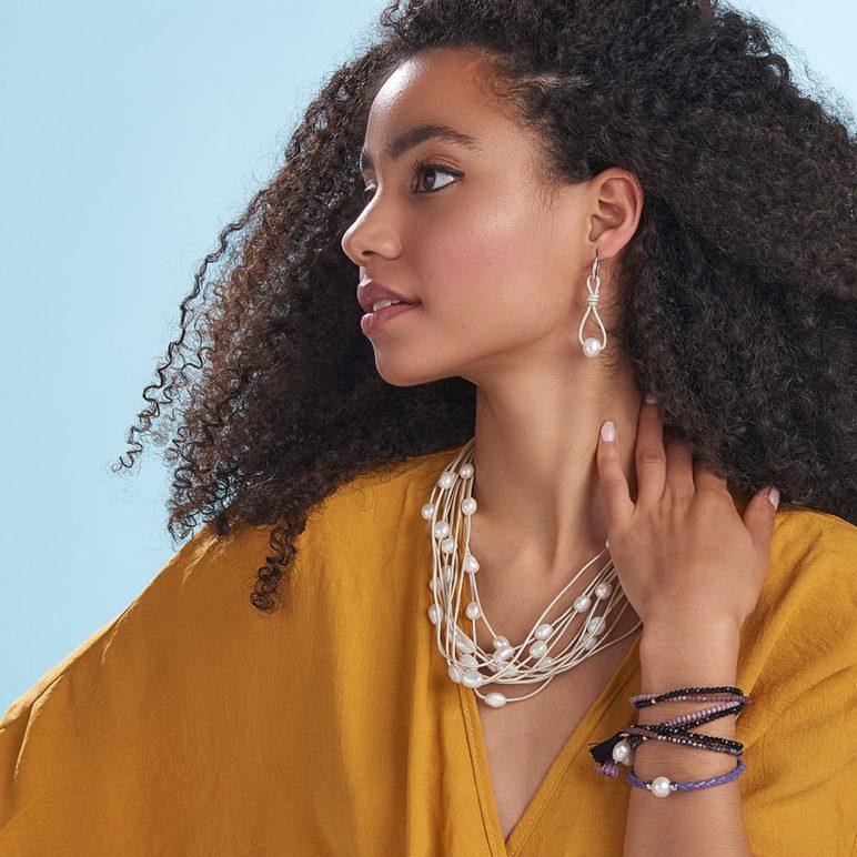 Purple Bahia Pearl Bracelet