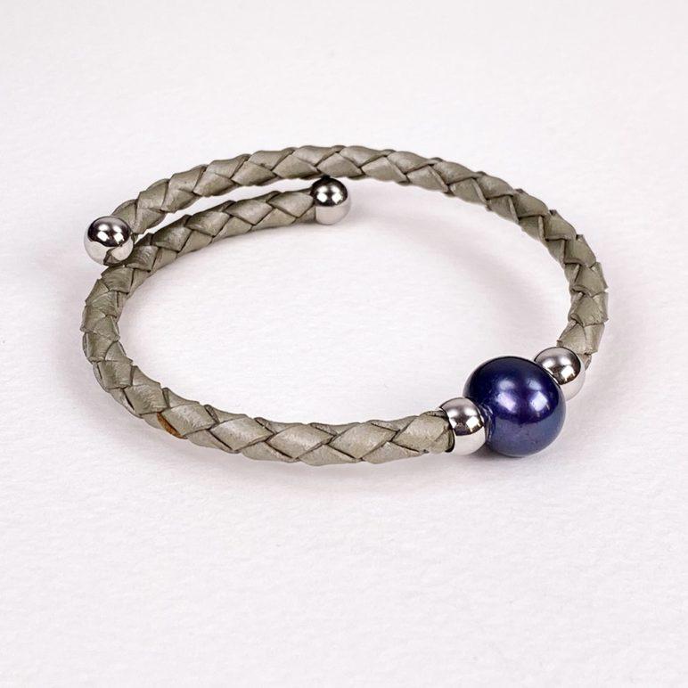 Grey Bahia Bracelet with Peacock Pearl