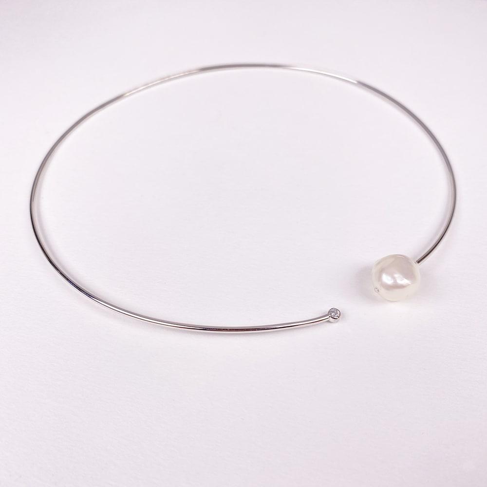 Faro Pearl Choker Necklace