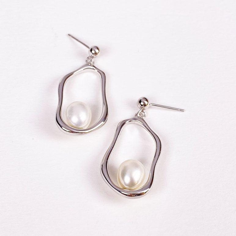 Pendientes Faro con perlas