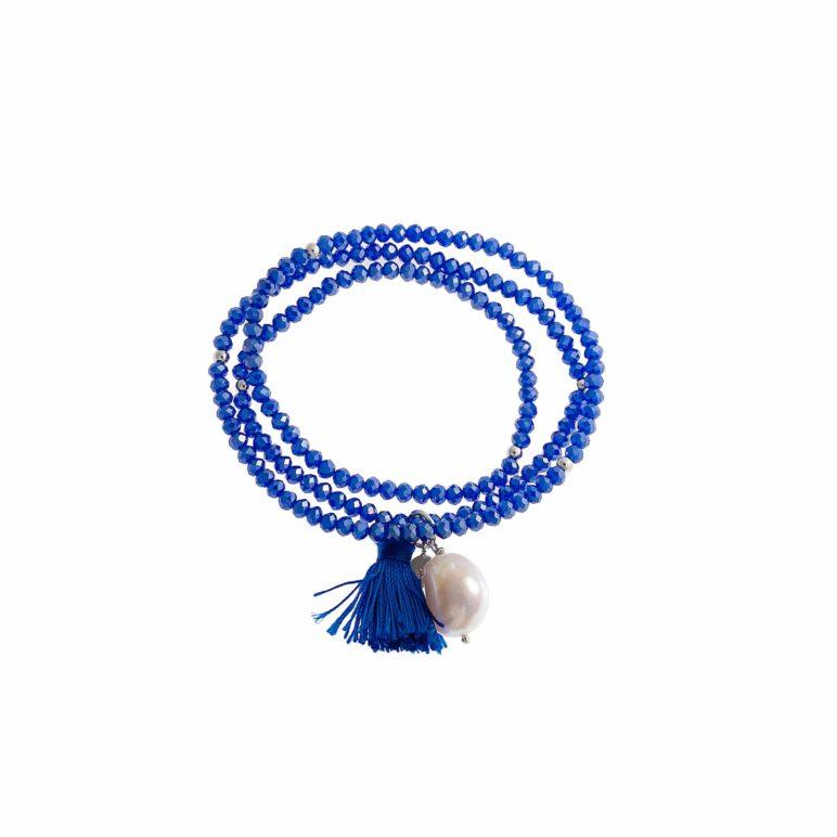 Royal Blue Luna Tassel Bracelet