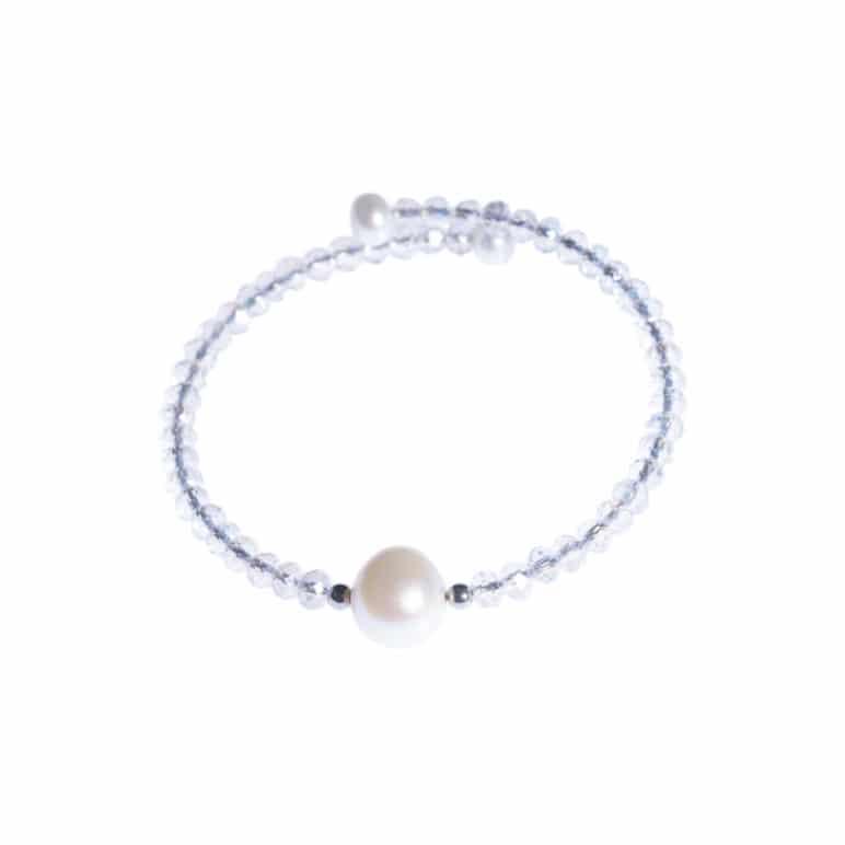 White Bahia Crystal Bracelet