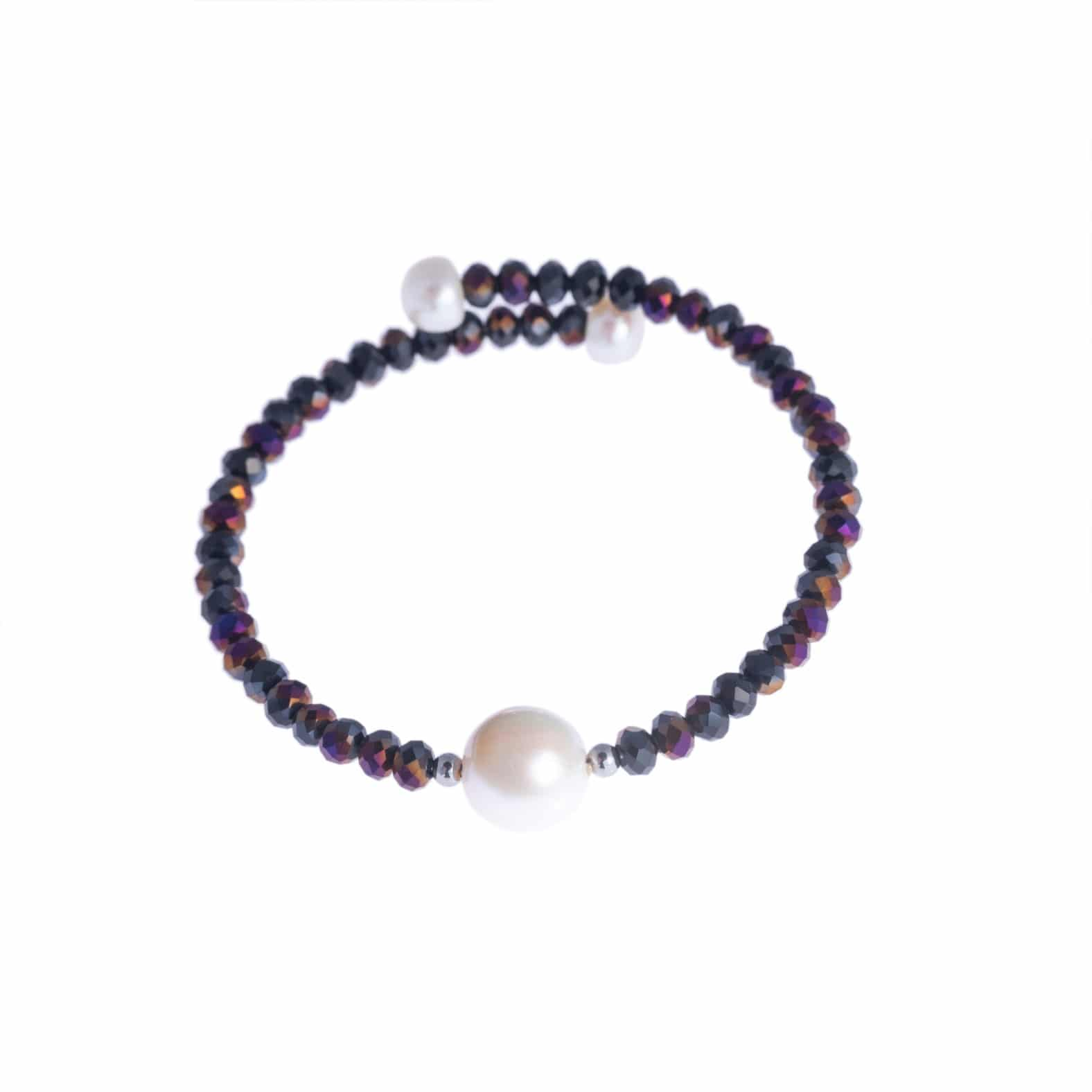 Purple Bahia Crystal Bracelet